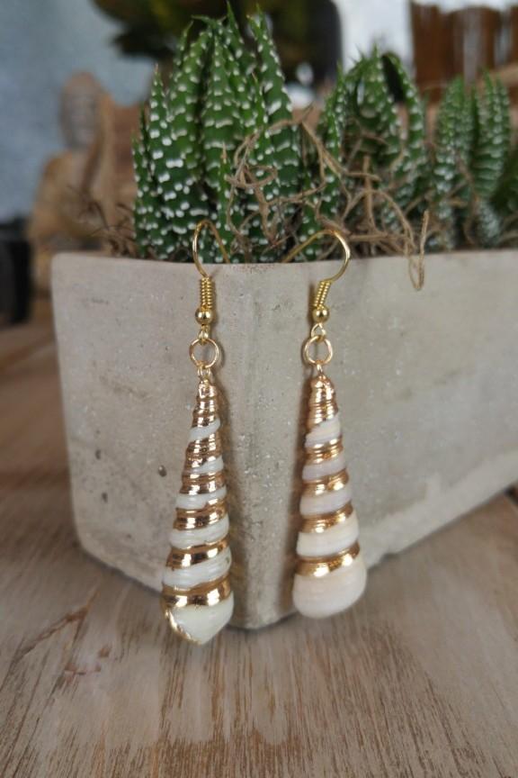 σκουλαρίκια-κοχύλι-χρυσό