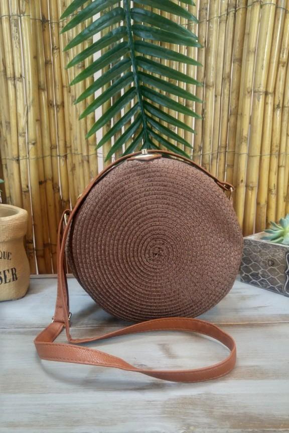 ψάθινη-τσάντα-στρογγυλή-καφέ