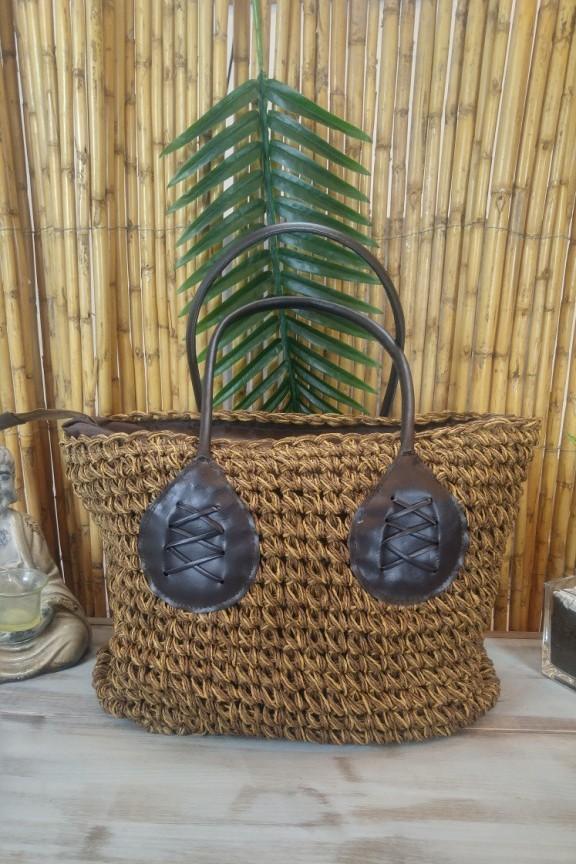 τσάντα-ψάθινη-παραλίας-καφέ