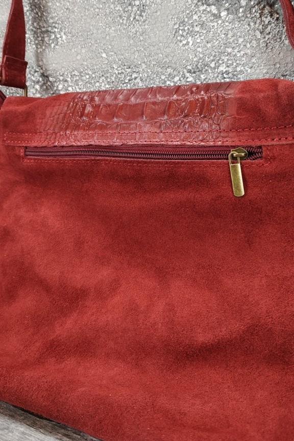 τσάντα-γυναικεία-δερμάτινη-κροκό-μπορντώ