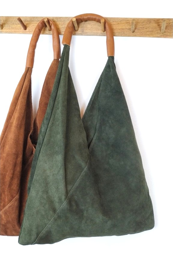 τσάντα-γυναικεία-δερμάτινη-καστόρι-hobo-χακί