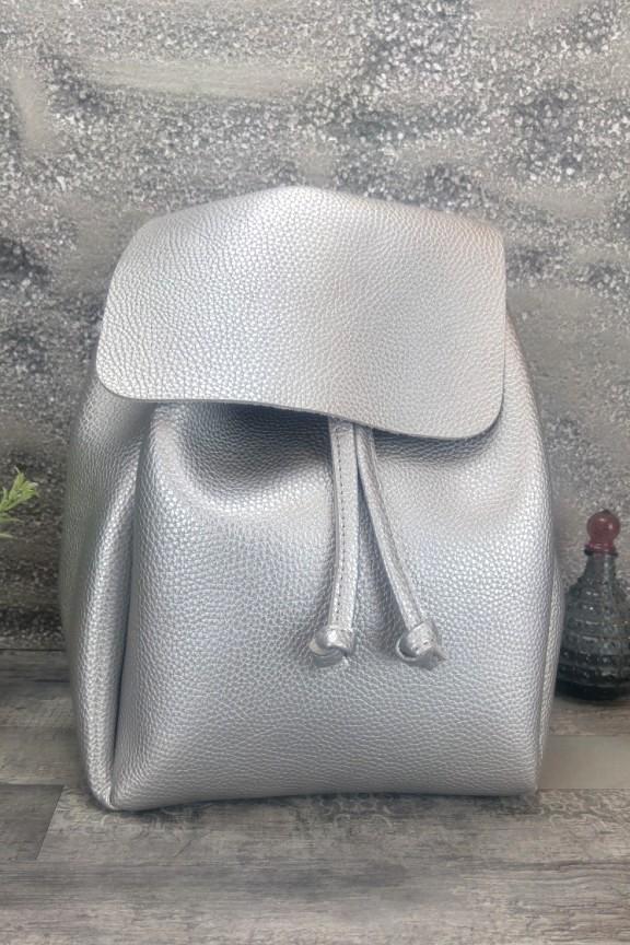 backpack-γυναικείο-ασημί