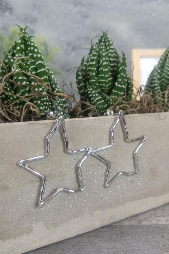 σκουλαρίκια-αστέρια-ασημί