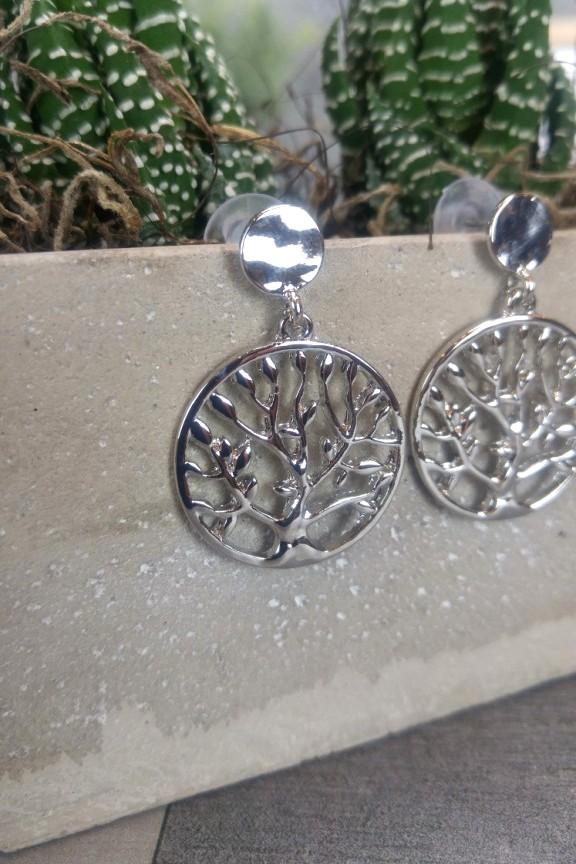σκουλαρίκια-δέντρο-της-ζωής-ασημί