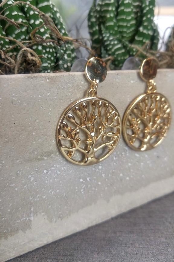 σκουλαρίκια-δέντρο-της-ζωής-χρυσό