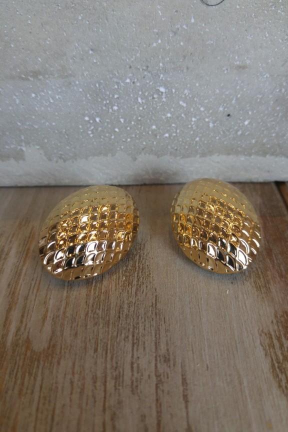 σκουλαρίκια-κλιπ-ανάγλυφα-χρυσά