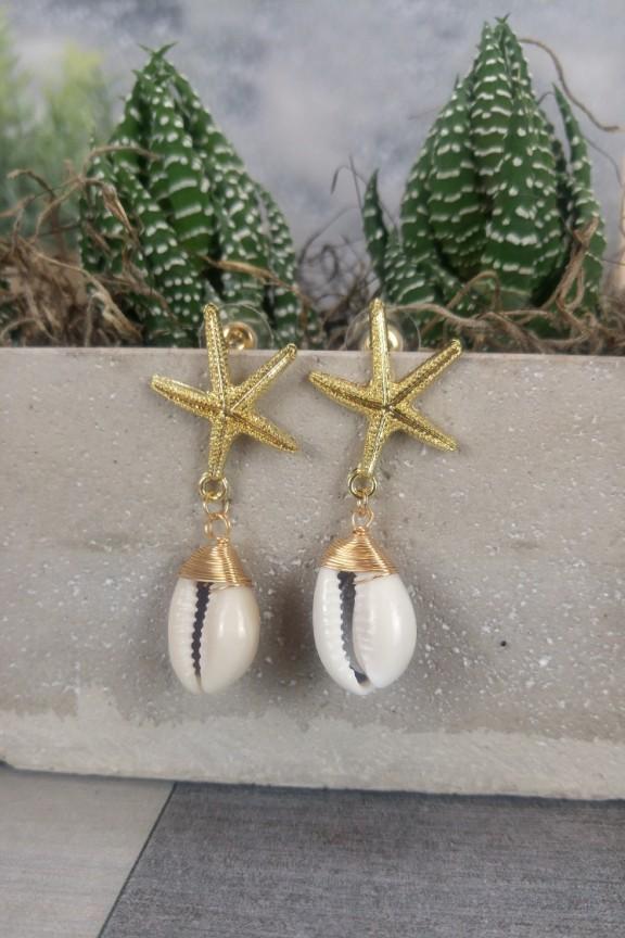 σκουλαρίκια-κοχύλι-αστερίας