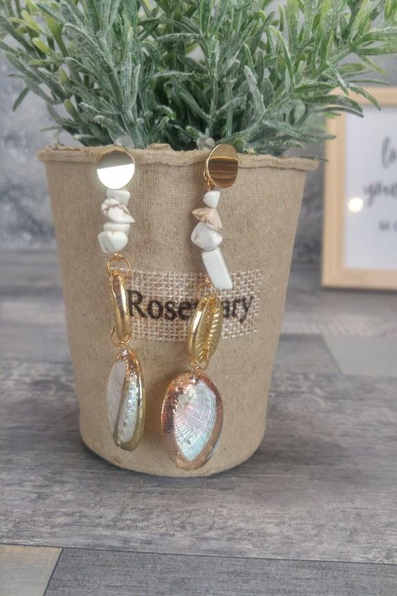σκουλαρίκια-πέτρες-κοχύλια