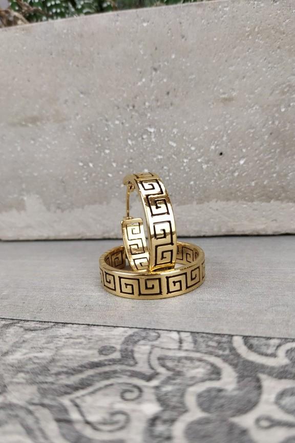 σκουλαρίκια-κρίκοι-ατσάλι-χρυσό