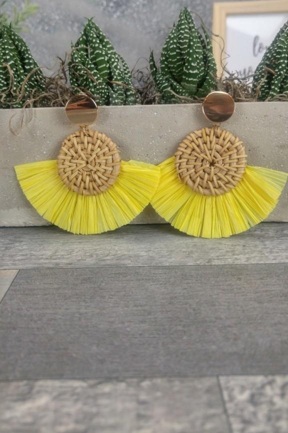 σκουλαρίκια-μπαμπού-κίτρινα