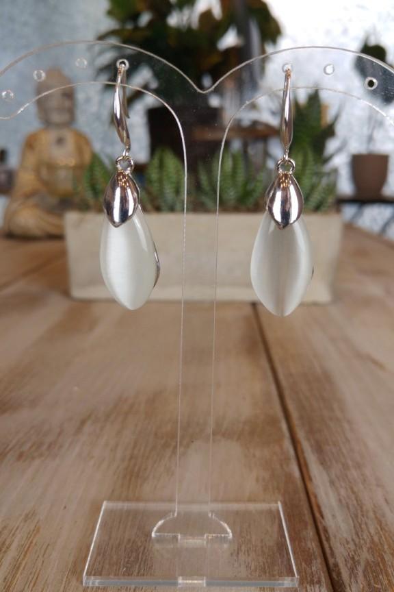 σκουλαρίκια-πέτρα-ασημί