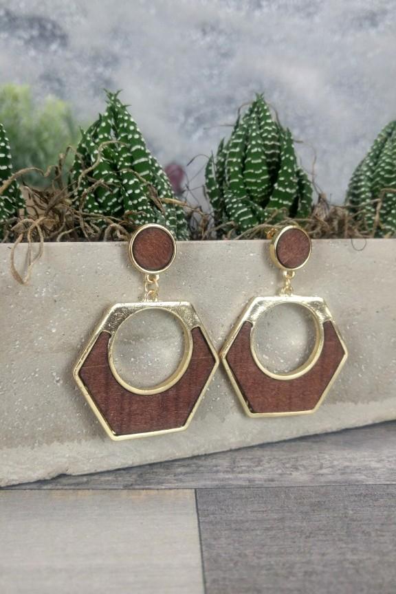 σκουλαρίκια-ξύλινα-χρυσό