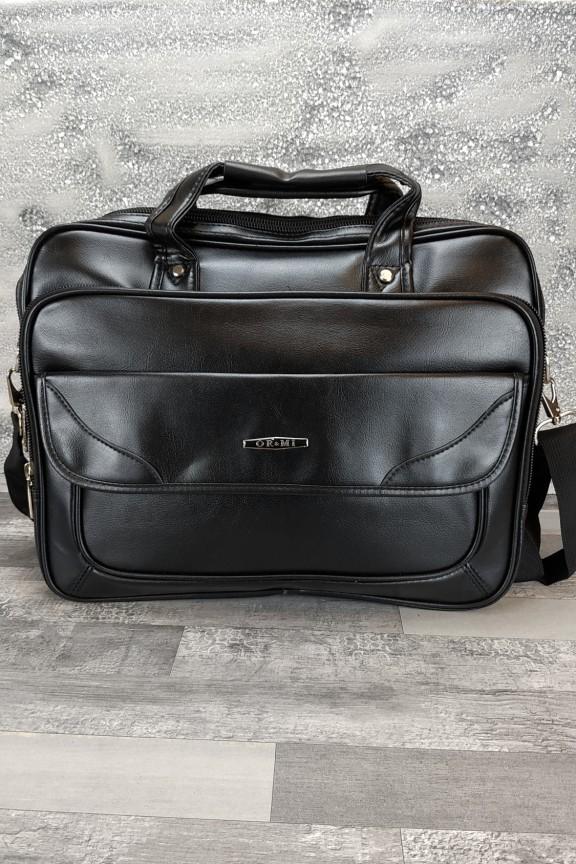 τσάντα-δερματίνης-laptop-μαύρη