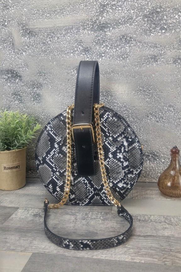 τσάντα-φίδι-στρογγυλή
