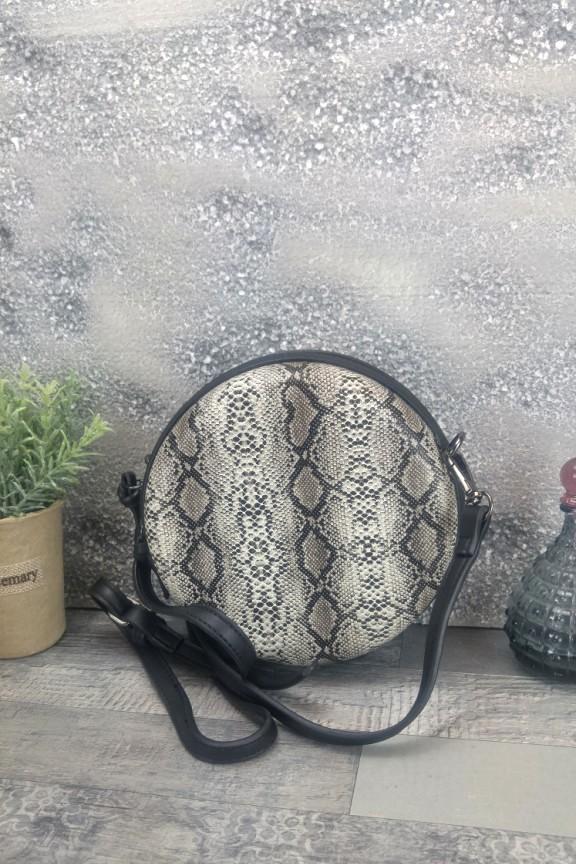 τσάντα-φίδι-στρογγυλή-γκρι