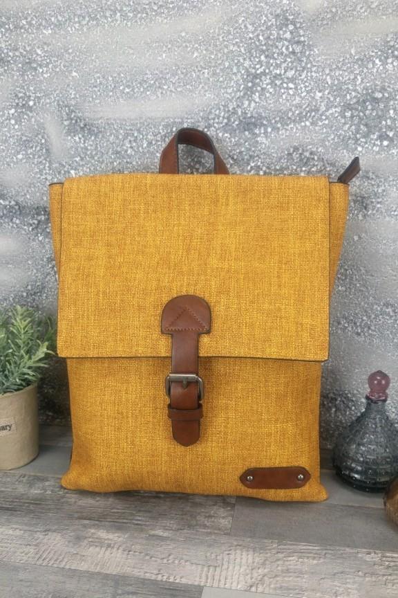 τσάντα-πλάτης-γυναικεία-μουσταρδί