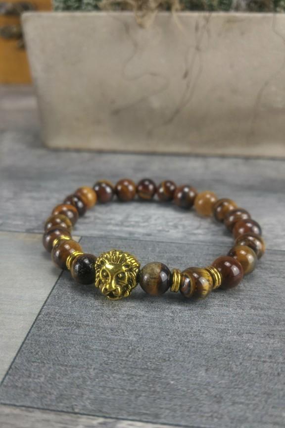 βραχιόλι-πέτρα-μάτι-τίγρη-λιοντάρι-χρυσό