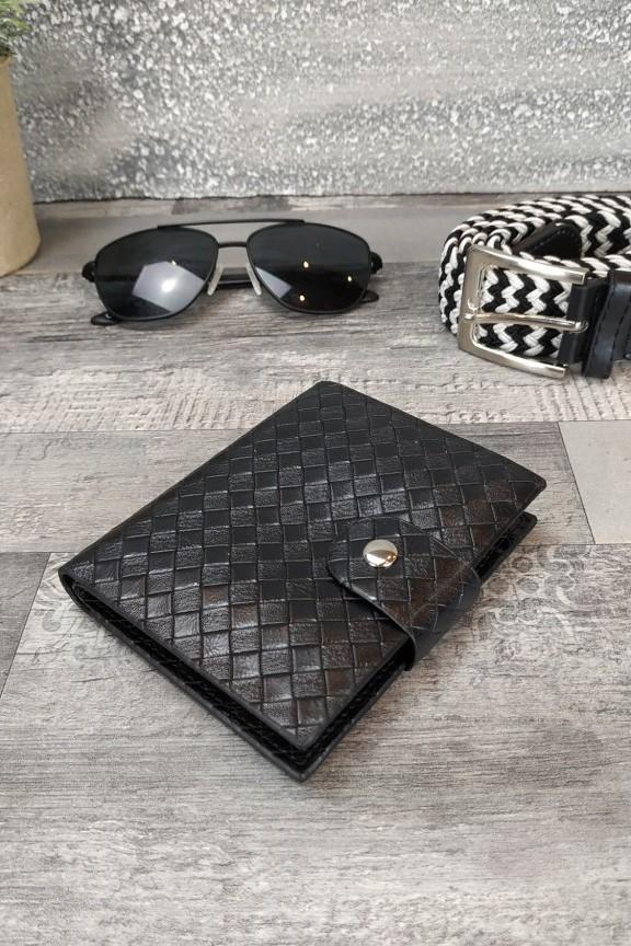 ανδρικό-πορτοφόλι-πλεκτό-μαύρο