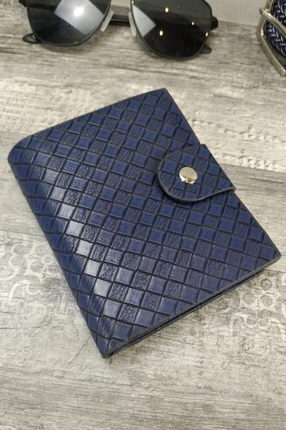 ανδρικό-πορτοφόλι-πλεκτό-μπλε