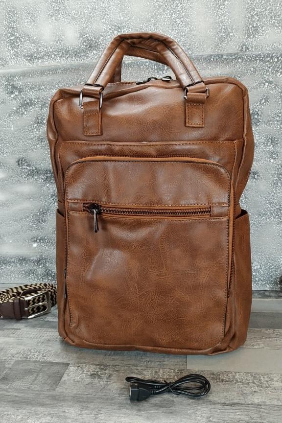 τσάντα-πλάτης-δερματίνη-καφέ