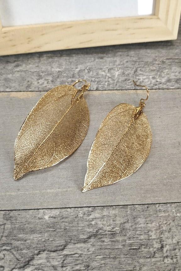 σκουλαρίκια-φύλλο-χρυσό