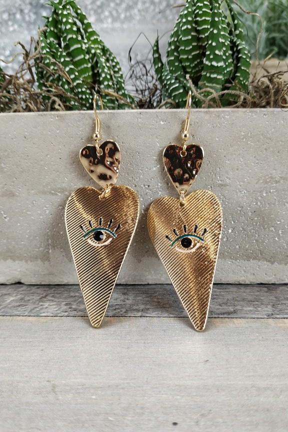 σκουλαρίκια-καρδιά-χρυσά-μάτι