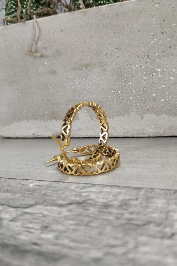 σκουλαρίκια-κρίκοι-ατσάλι-χρυσοί