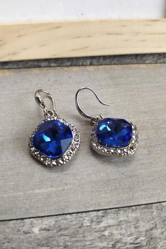 σκουλαρίκια-μπλε-κρύσταλλοι-ασημί