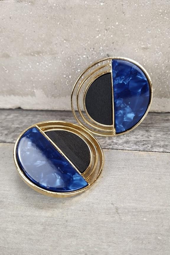 σκουλαρίκια-ρητίνης-μάρμαρο-ξύλο-μπλε