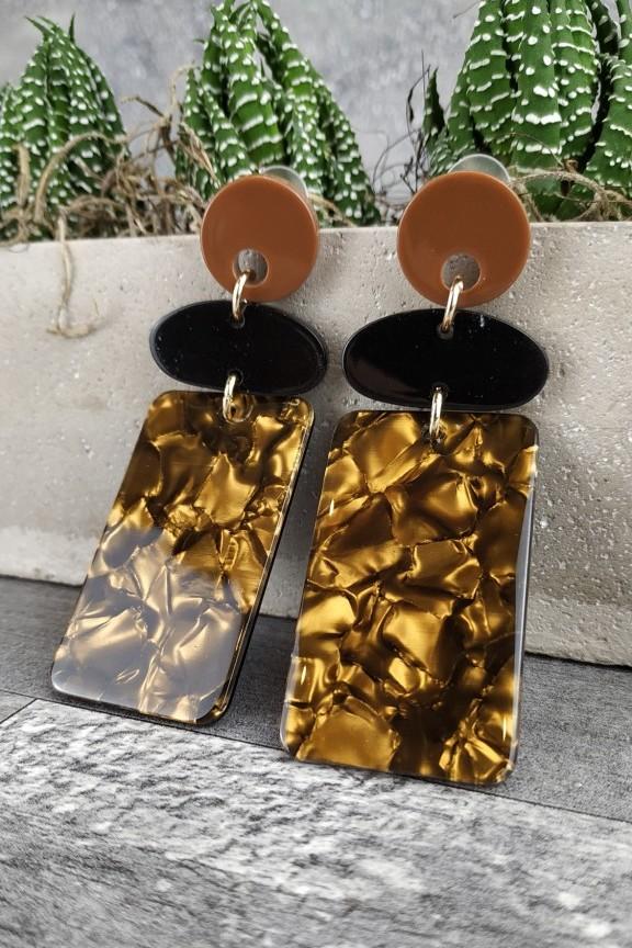 σκουλαρίκια-κοκάλινα-χειροποίητα-χρυσό