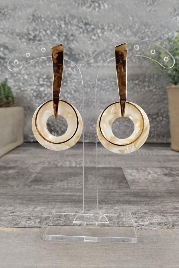 σκουλαρίκια-ρητίνης-στρογγυλά-χρυσά