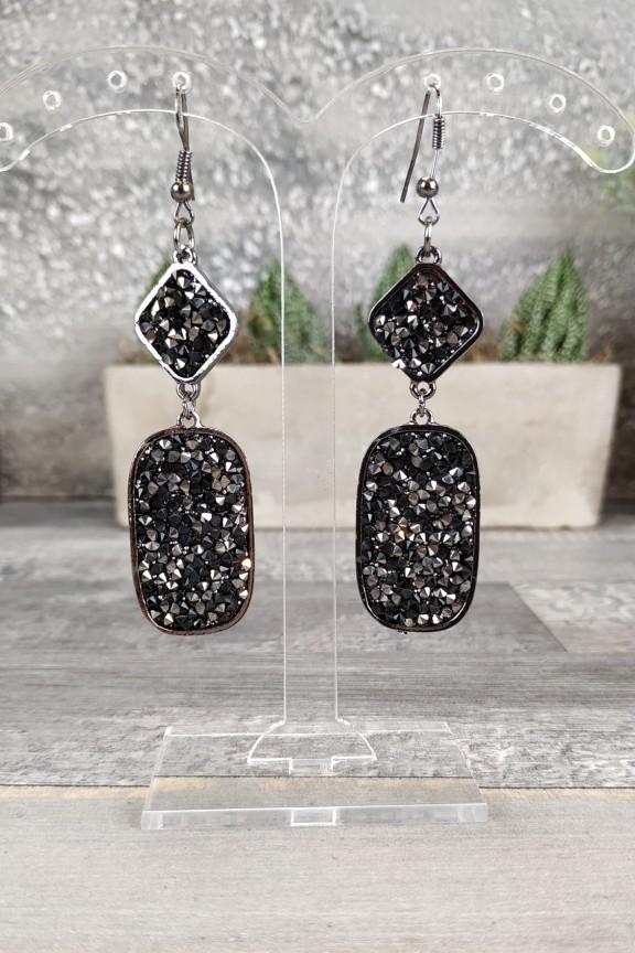 σκουλαρίκια-ζιργκόν-μαύρα