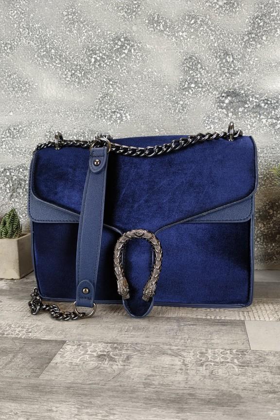 τσάντα-βελούδο-πέταλο-μπλε-δράκος