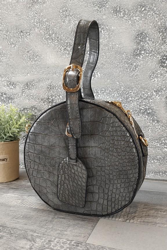 τσάντα-στρογγυλή-κροκό-γκρι