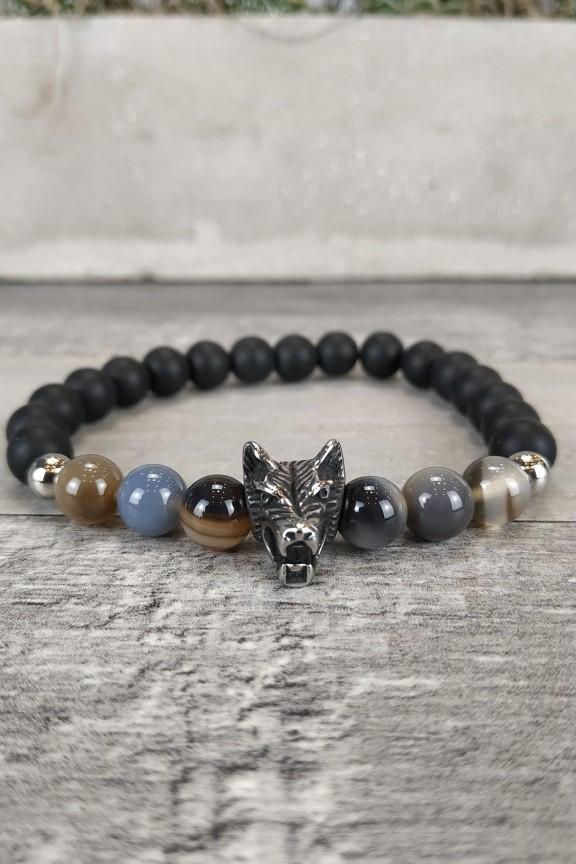 βραχιόλι-πέτρα-ατσάλι-λύκος