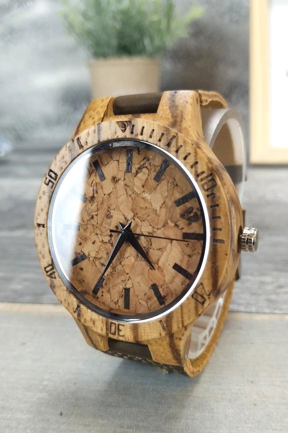 ξύλινο-ρολόι-χειρός-φελλός