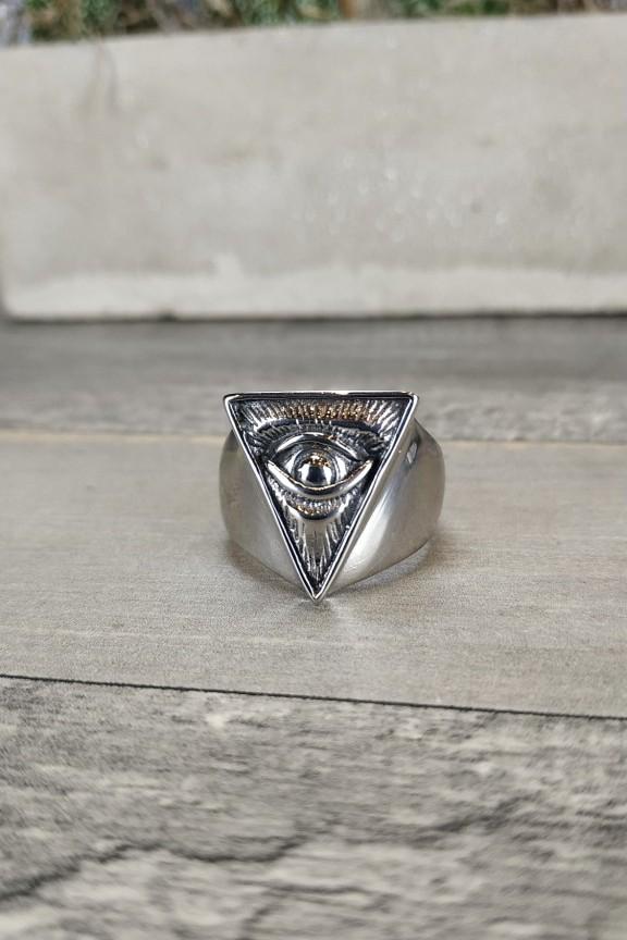 ανδρικό-δαχτυλίδι-ατσάλι-μάτι