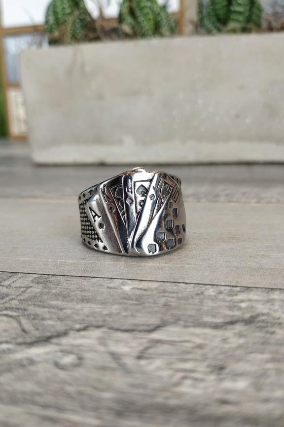 ανδρικό-δαχτυλίδι-ατσάλι-χαρτιά