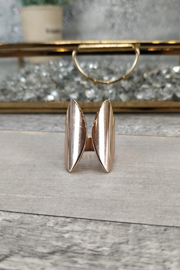 δαχτυλίδι-γυναικείο-πεταλούδα-ατσάλι-ροζ-χρυσό