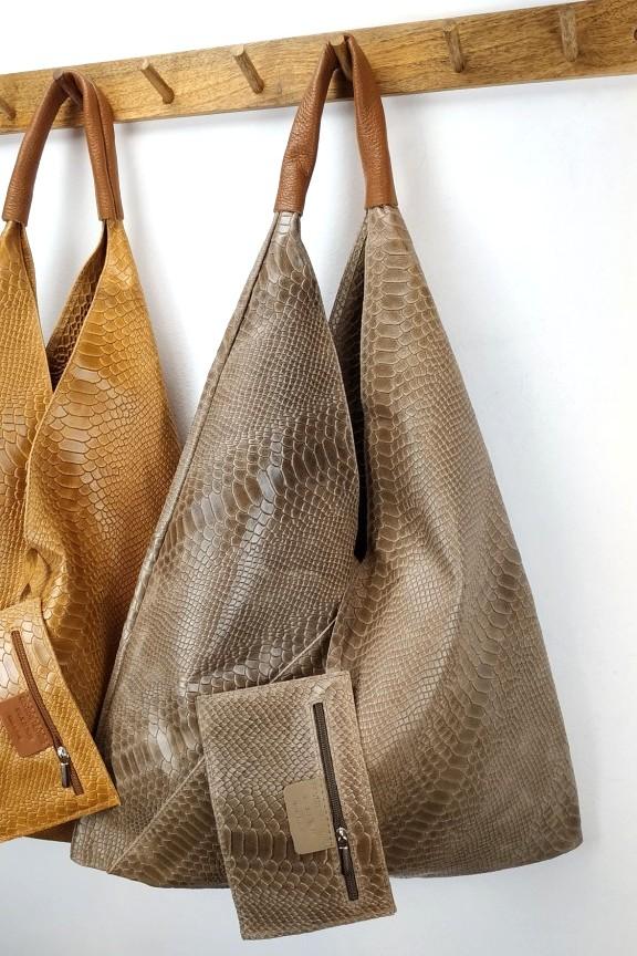 δερμάτινη-τσάντα-γυναικεία-φίδι-hobo-πούρο