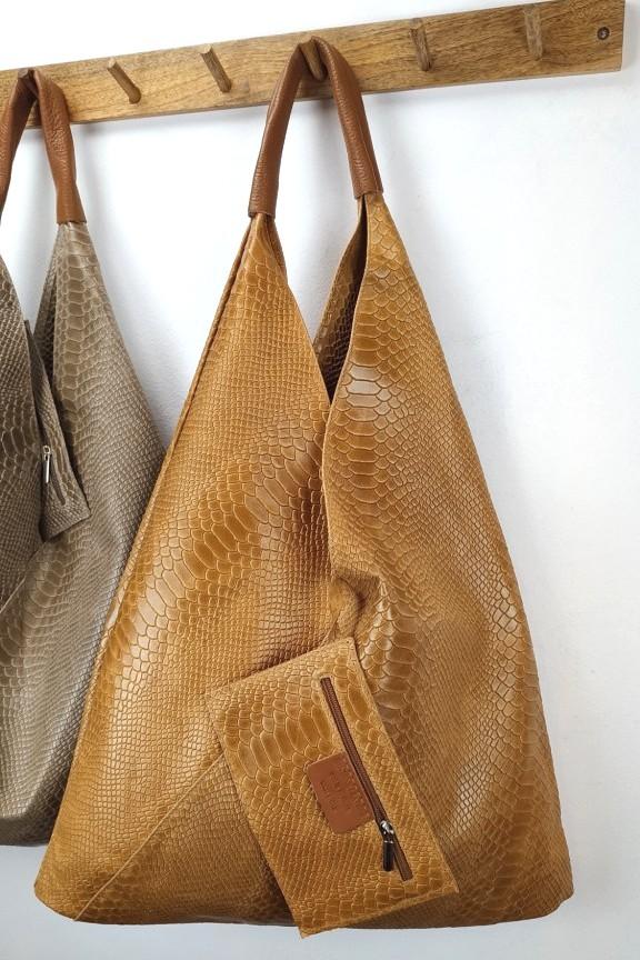 δερμάτινη-τσάντα-γυναικεία-φίδι-hobo-ταμπά