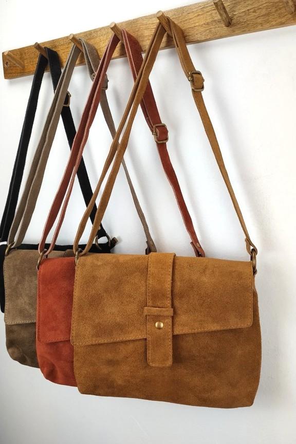 γυναικεία-τσάντα-δέρμα-σουέτ-καφέ