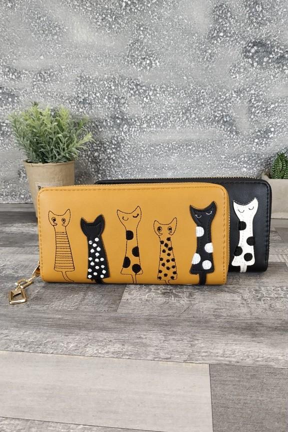 πορτοφόλι-γυναικείο-γάτες-ταμπά