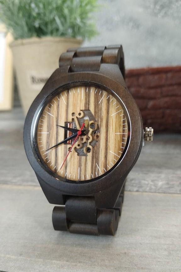ξύλινο-ρολόι-μπρασελέ-καφέ-μηχανισμός