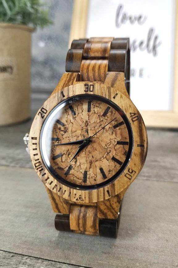 ξύλινο-ρολόι-μικρό-μπρασελέ-φελός