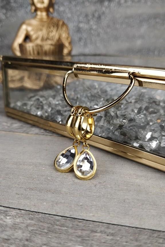 σκουλαρίκια-κρίκοι-μικροί-ατσάλι-κρύσταλλοι-χρυσά