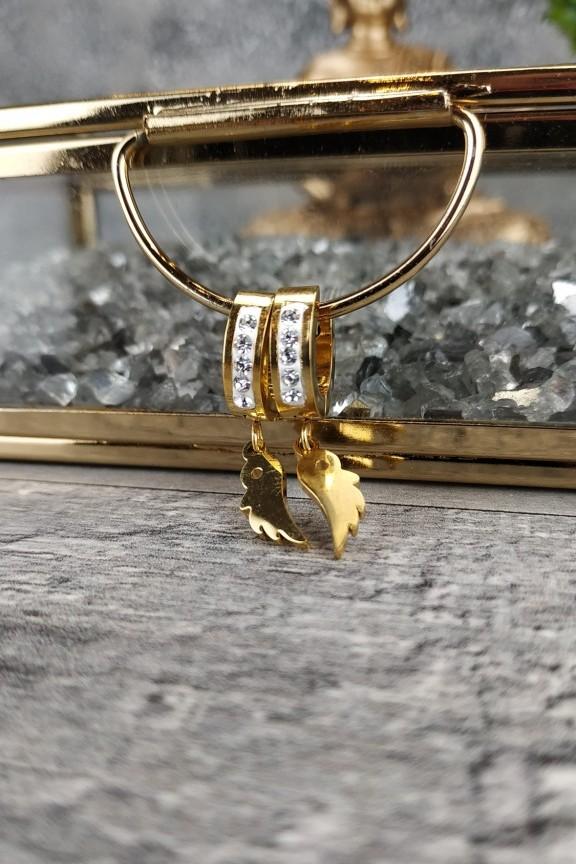 σκουλαρίκια-κρίκοι-μικροί-ατσάλι-στρας-χρυσά