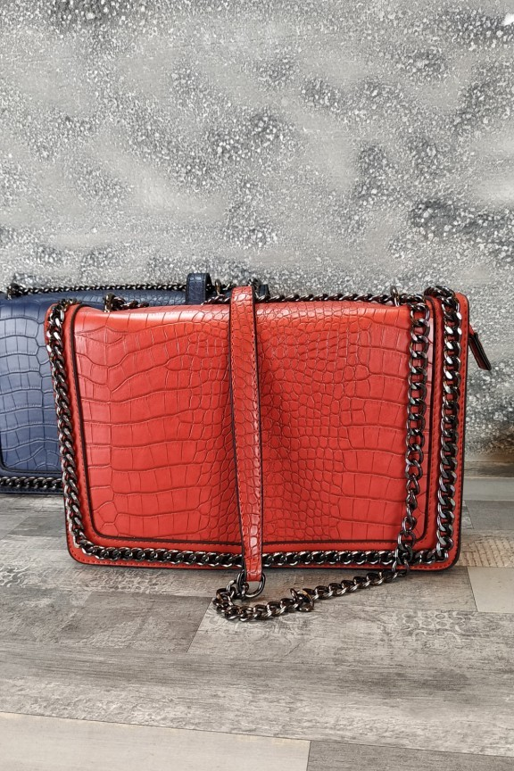 τσάντα-γυναικεία-κροκό-κόκκινη