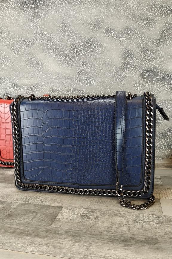 τσάντα-γυναικεία-κροκό-μπλε
