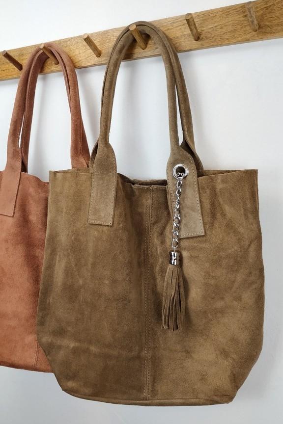 γυναικεία-δερμάτινη-τσάντα-σουέτ-πούρο